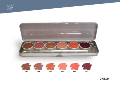 Paleta 6 colores labios