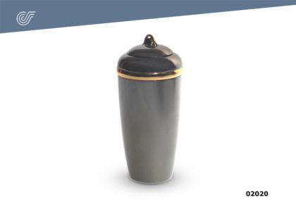Urna incinerar Caggiati Dark 32×15 cm.