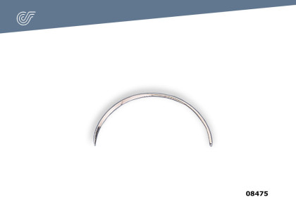 Aguja curva fina 70 mm. (12 unid.)