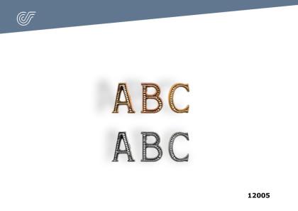 Letras pequeñas Plata o Cobre