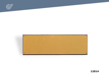 Placa para nombre 150x50x1,5 mm.