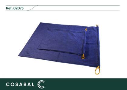 Bolsa terciopelo azul relicario Ossona